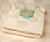 Organic cotton sweater blanket