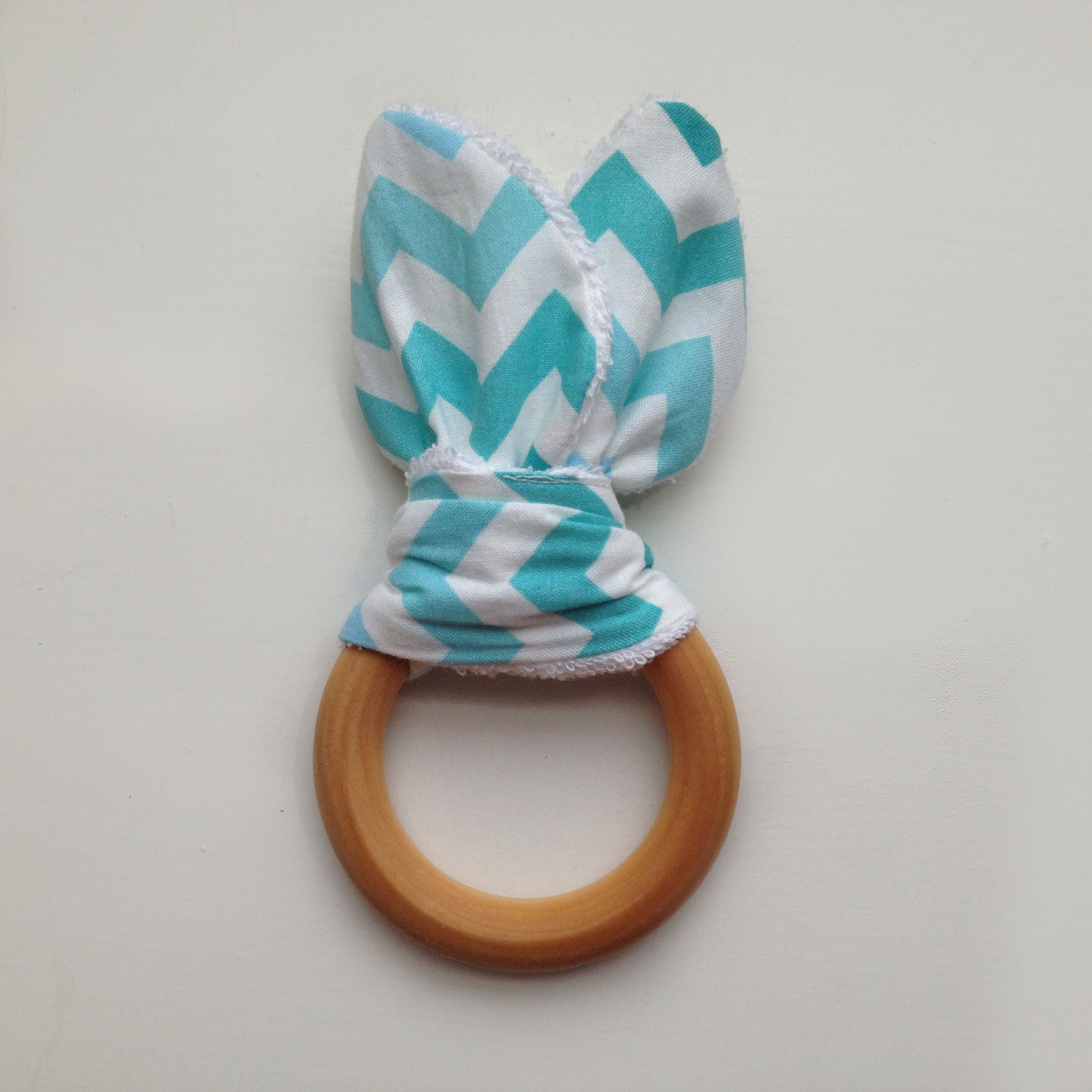 Teal Teething Ring
