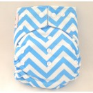 Kawaii Good Night Heavy Wetter Blue Chevron