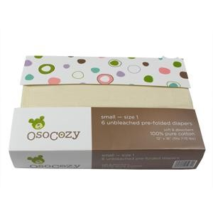 OsoCozy Packaged unbleached prefold diapers